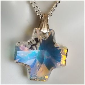 """Colorful Crystal Pendant Necklace 18"""""""